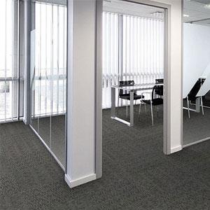Alfombras modulares para oficinas